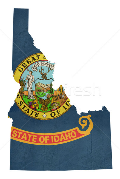 Grunge state of Idaho flag map  Stock photo © speedfighter