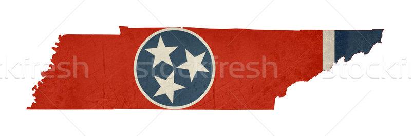 Grunge Tennessee pavillon carte isolé blanche Photo stock © speedfighter