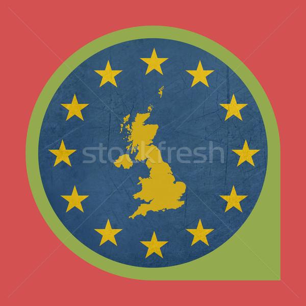Europejski Unii Zjednoczone Królestwo znacznik pin przycisk Zdjęcia stock © speedfighter