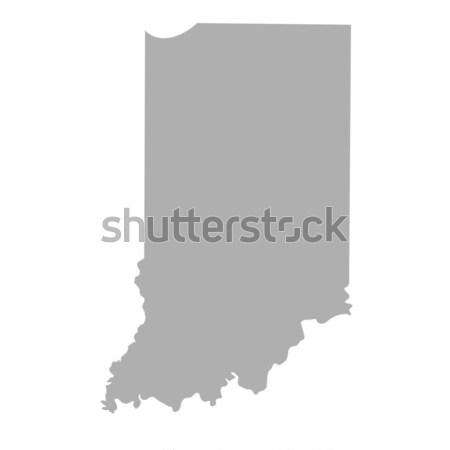 Indiana mapa isolado branco EUA américa Foto stock © speedfighter