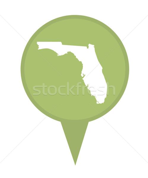 フロリダ 地図 ピン アメリカン マーカー 孤立した ストックフォト © speedfighter