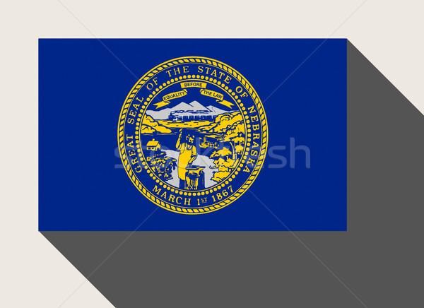 Americano Nebraska bandiera web design stile pulsante Foto d'archivio © speedfighter