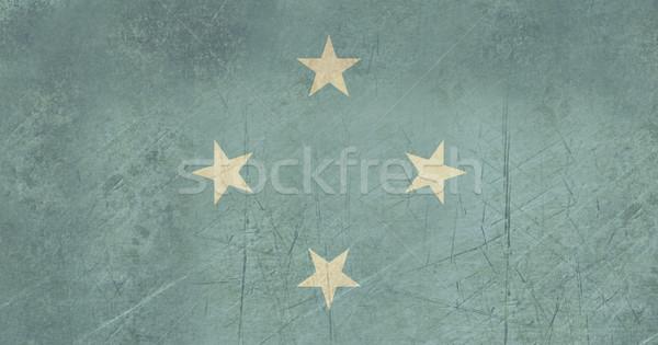 グランジ ミクロネシア フラグ 国 公式 色 ストックフォト © speedfighter