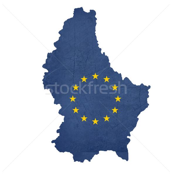 European flag map of Luxembourg Stock photo © speedfighter