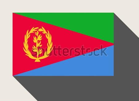 Erytrea banderą web design stylu przycisk Zdjęcia stock © speedfighter
