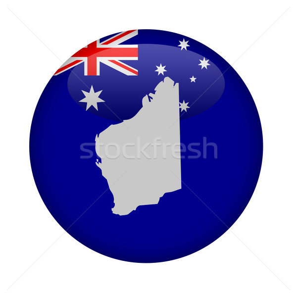 западной Австралия карта кнопки белый Европа Сток-фото © speedfighter