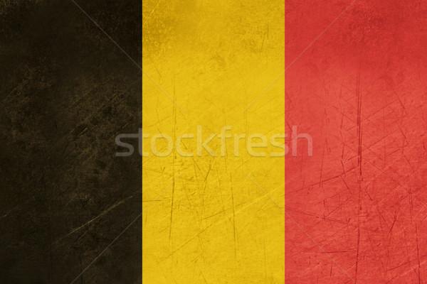 Grunge Bélgica bandera país oficial colores Foto stock © speedfighter
