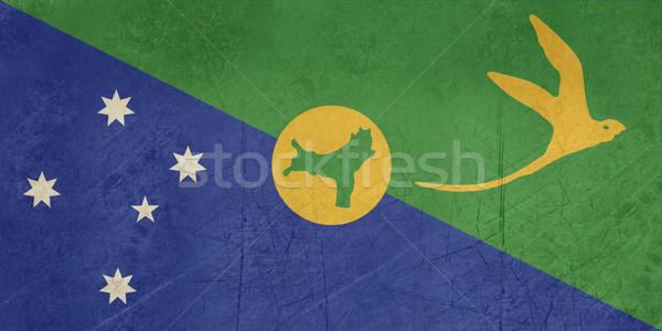 Grunge Christmas Islands Flag Stock photo © speedfighter