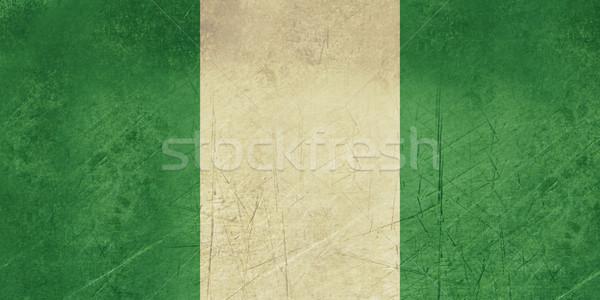 Grunge Nigéria bandeira país oficial cores Foto stock © speedfighter