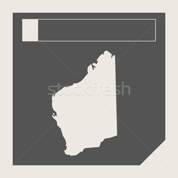 западной Австралия карта кнопки отзывчивый веб-дизайна Сток-фото © speedfighter