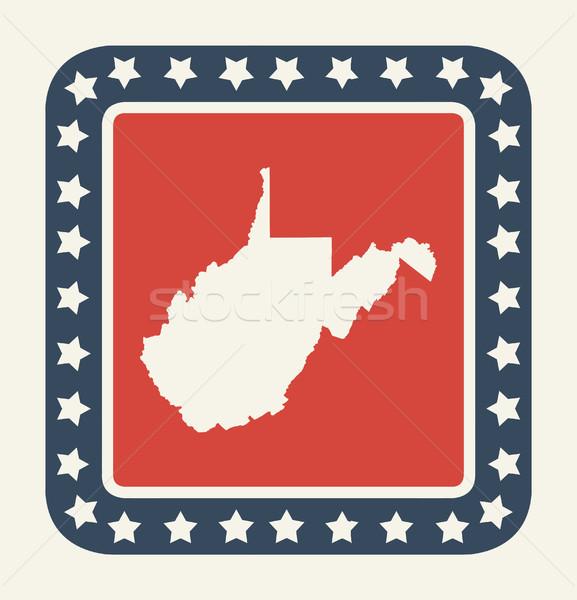 Nyugat-Virginia amerikai gomb amerikai zászló web design stílus Stock fotó © speedfighter