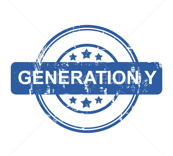 Generation Y business concept stamp Stock photo © speedfighter