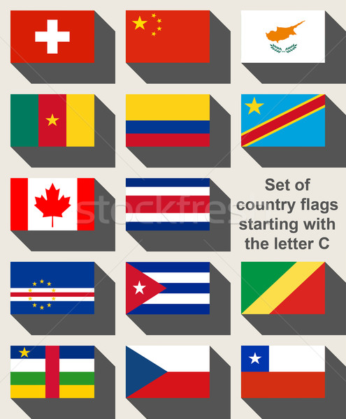 Set of country flags starting with the letter C Stock photo © speedfighter