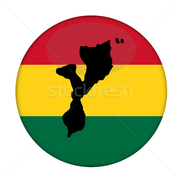 Mozambique map on a Rastafarian flag button Stock photo © speedfighter