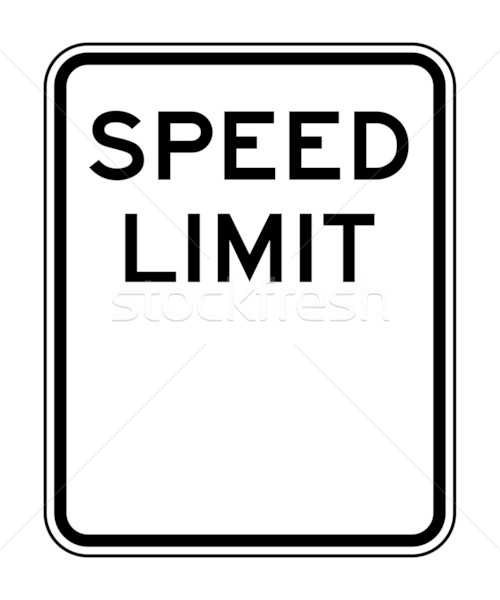 Blank speed limit sign Stock photo © speedfighter