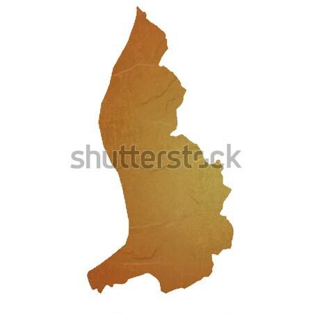 Textured map of Liechtenstein Stock photo © speedfighter