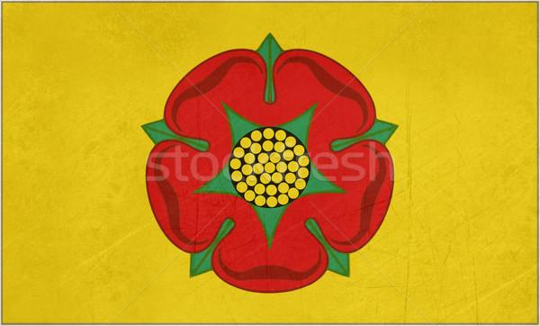 Stockfoto: Vlag · officieel · grunge · Rood · rose · Engeland · steeg