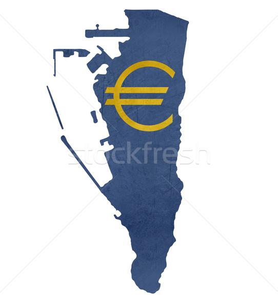 Europejski waluta symbol Pokaż gibraltar odizolowany Zdjęcia stock © speedfighter