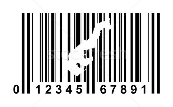 Monaco streepjescode winkelen geïsoleerd witte reizen Stockfoto © speedfighter