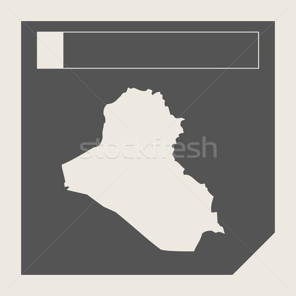 イラク 地図 ボタン 敏感な Webデザイン 孤立した ストックフォト © speedfighter