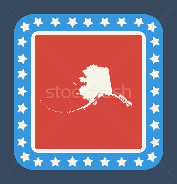 Alaska bouton drapeau américain web design style isolé Photo stock © speedfighter