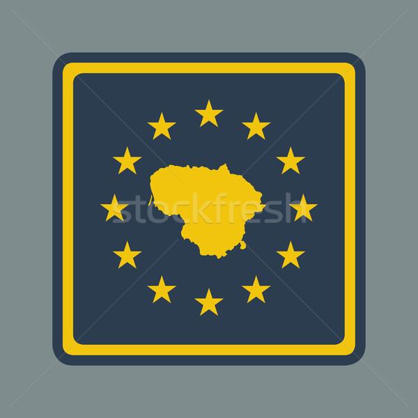 Lituânia europeu bandeira botão responsivo web design Foto stock © speedfighter