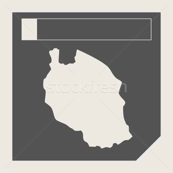Tanzanya harita düğme duyarlı web tasarım yalıtılmış Stok fotoğraf © speedfighter