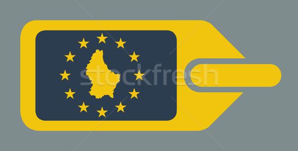 Luxemburg europese bagage label reizen tag Stockfoto © speedfighter
