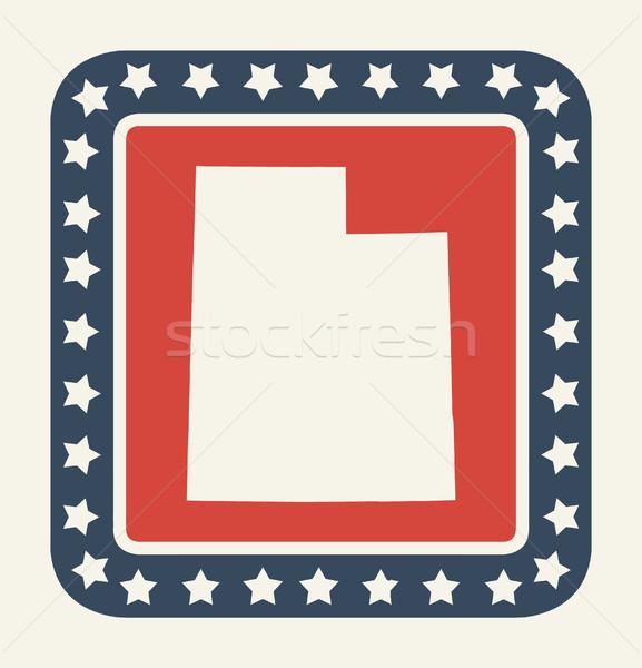 Utah bouton drapeau américain web design style Photo stock © speedfighter