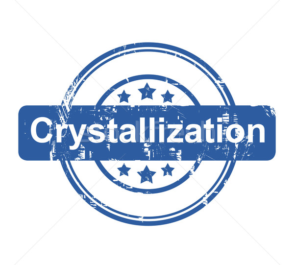 Crystallization business concept stamp Stock photo © speedfighter