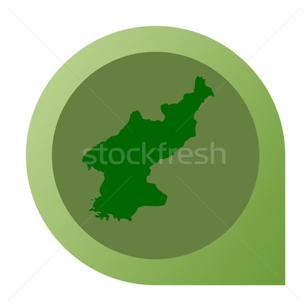 Isolated North Korea map marker pin Stock photo © speedfighter