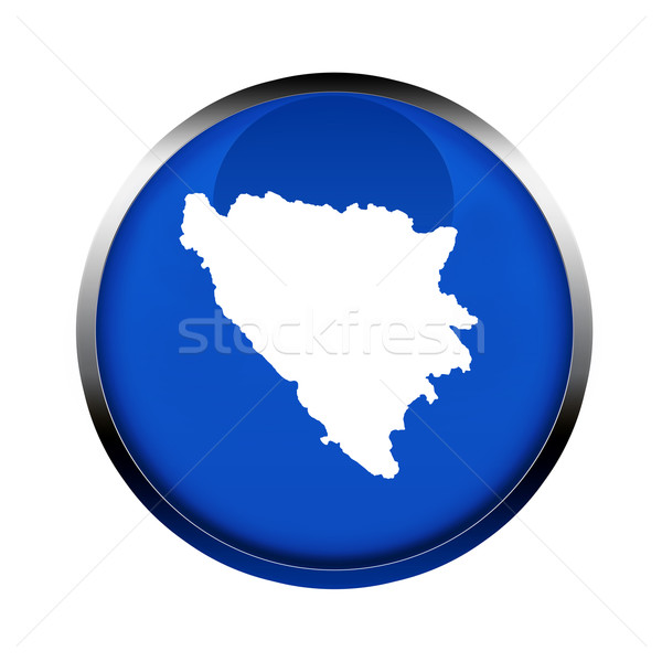 Bosnia Herzegovina mapa botón colores europeo Unión Foto stock © speedfighter
