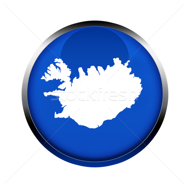 Iceland map button Stock photo © speedfighter