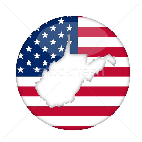 Virginie-Occidentale Amérique badge isolé blanche affaires Photo stock © speedfighter