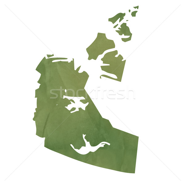 Nord-ouest carte vert papier Canada vieux Photo stock © speedfighter