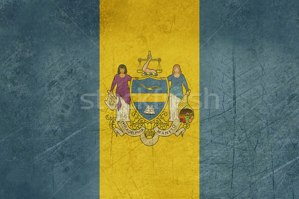 Grunge Philadelphia city flag Stock photo © speedfighter
