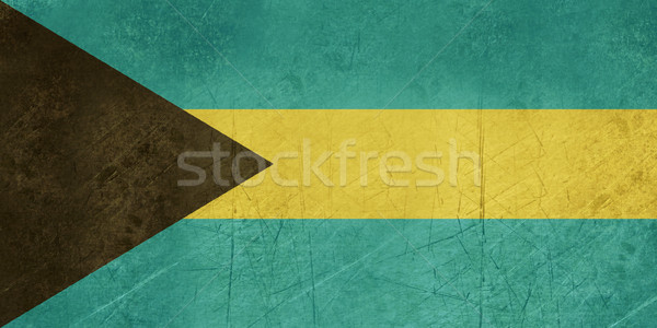 Гранж Багамские острова флаг стране официальный цветами Сток-фото © speedfighter