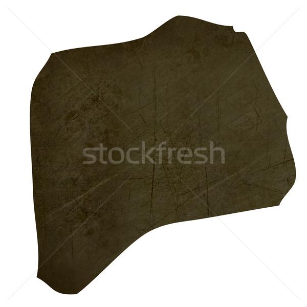 темно карта Руанда изолированный белый Сток-фото © speedfighter