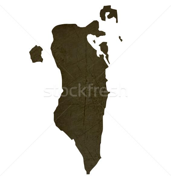 Escuro mapa Bahrein isolado branco Foto stock © speedfighter
