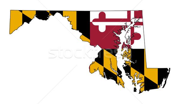 Мэриленд флаг карта изолированный белый США Сток-фото © speedfighter