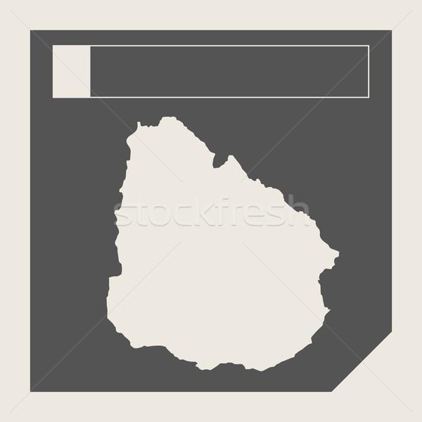 ウルグアイ 地図 ボタン 敏感な Webデザイン 孤立した ストックフォト © speedfighter