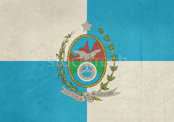 Foto stock: Grunge · Rio · de · Janeiro · bandeira · Brasil