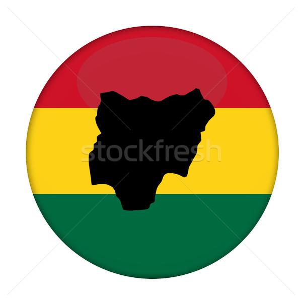 Zdjęcia stock: Nigeria · Pokaż · banderą · przycisk · biały · działalności