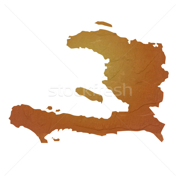 Mapa Haiti marrom rocha pedra Foto stock © speedfighter