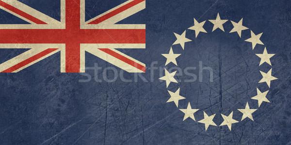 Grunge Cook Islands flag Stock photo © speedfighter
