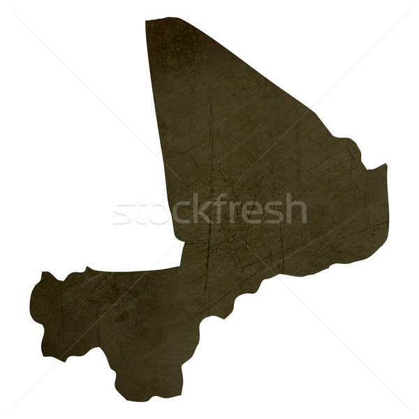 Dark silhouetted map of Mali Stock photo © speedfighter
