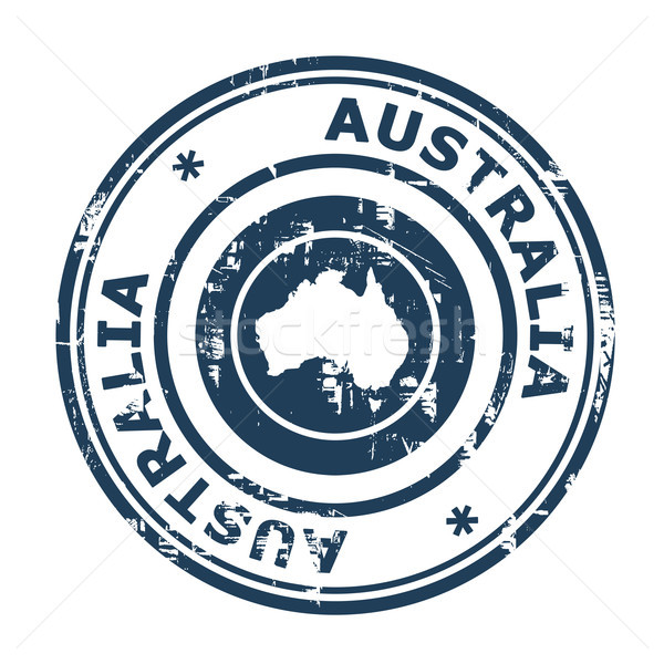 Australia passport stamp Stock photo © speedfighter