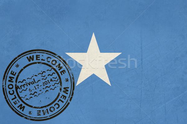 歓迎 ソマリア フラグ パスポート スタンプ 旅行 ストックフォト © speedfighter