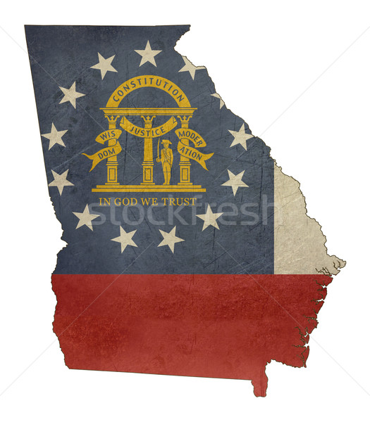 Grunge state of Georgia flag map Stock photo © speedfighter