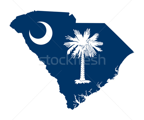 South Carolina bandeira mapa isolado branco EUA Foto stock © speedfighter